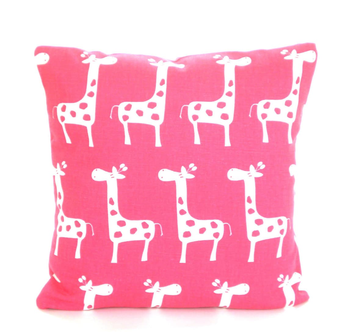 Pink Decorative Pillow Covers : Pink Nursery Pillow Covers Decorative Throw Pillows Cushion