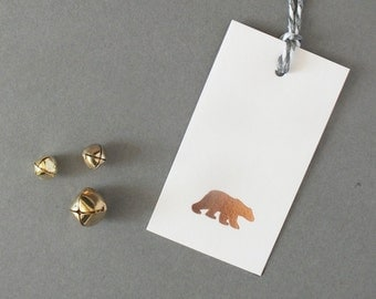 Set of 6 Polar Bear Gift Tags