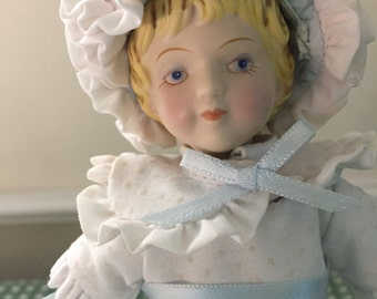 AVON Collectible Colonial Girl Porcelain Doll, Avon Doll Vintage