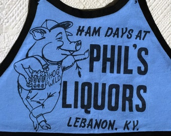 Free At Last Upcycled Vintage Kentucky Liquors Tee Halter Top