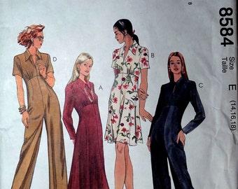 McCalls 8584 Dress, jumpsuit, maxidress size 14, 16, 18