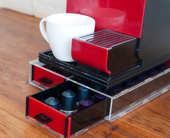 long transparent nespresso storage drawer holder for capsules. Black Bedroom Furniture Sets. Home Design Ideas