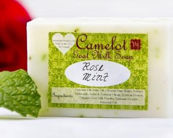 Camelot Goat Milk Soap - Rose Mint (4oz)
