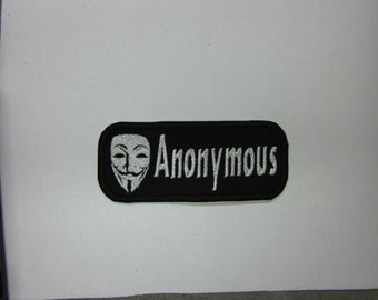 Anonymous hacker group Iron/sew on Patch