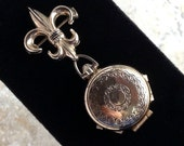 Unfolding Four Place Locket Brooch with Original Insets by Coro Pegasus