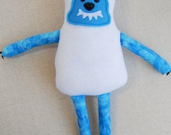 Plush Yeti, Stuffed Monster, Big Foot, Friendly Monster