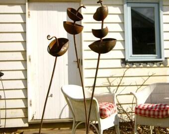 Single, Double and Triple Headed Metal Flower Stems