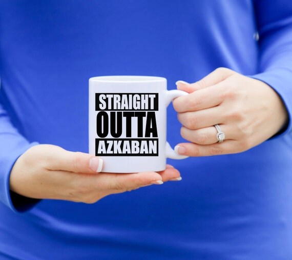 STRAIGHT OUTTA AZKABAN | Harry Potter Mug | Message Mugs | 11 oz.