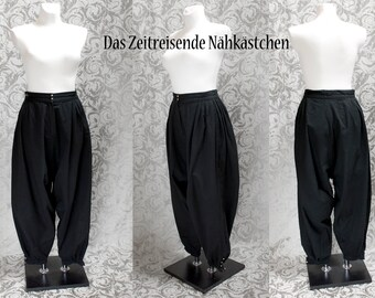 Harem trousers, Gothic, Wave, 80ies - made to measure