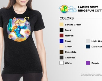 Metroid Samus SHIRT | PREMIUM QUALITY | Nintendo | Sci Fi | painting | Cute | Pin Up | Geek Shirt
