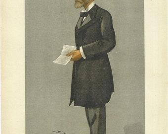 Sir Gordon Sprigg prime minister of the cape colony 1897 vanity fair lithograph print by spy.