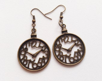 CLOCK Earrings Clock Jewelry Clock Gift Wall Clock Charm Earrings Big Clock Earrings Big Clock Charm Watch Earrings Wall Clock Gift Funny
