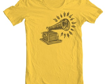 Music Teacher Gift Phonograph T shirt Record Music Lover Vintage RCA Record player Old Victor Dog Phonograph Gramophone Record