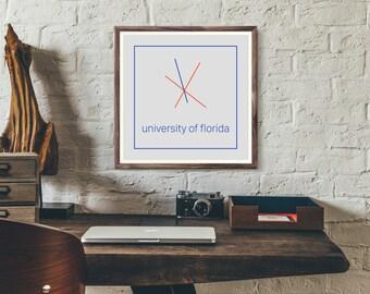 University of Florida Minimalist Poster - Digital Download