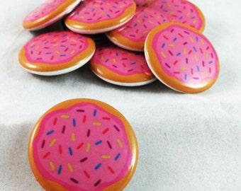 Donuts, Donut Pin, Sprinkle Donut, Doughnut pin, Sprinkle Doughnut, Sprinkle Pin, Donut Pin Back, Donut Accessory, Sprinkle Badge, Sprinkles