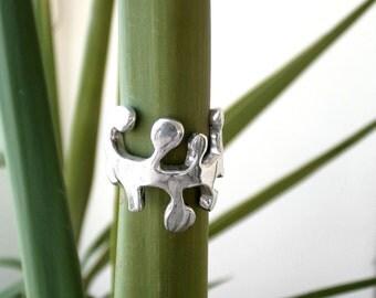 Mimosa ring |Boho ring |Adjustable ring |925 sterling silver ring |Hippie ring |Indian ring |Tibetan ring