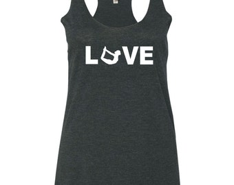 LOVE Yoga Tank Top - Bow Pose - Yoga Clothes
