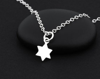 Star of David Necklace, Sterling Silver, Silver Star of David, Bat Mitzvah Necklace, Star of David Jewelry, Bat Mitzvah Gift, Jewish Jewelry