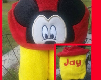 Mickey Mouse Inspired Towel with FREE embroidered name