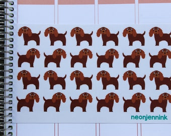 Ruby King Charles Spaniel Stickers