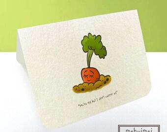 Handmade Birthday Card (Carrot)