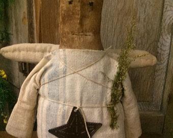 Primitive Angel Cloth doll Folk art Faap Haha Hafair team
