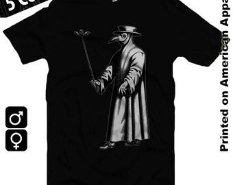 Plague Doctor American Apparel Men/Women T-shirt S-XXL Dark Ages, Middle Ages, Black Plague, Bubonic, Black Death, Cool Gift!