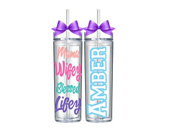 Personalized Tumbler / Tumblr / Mom Gift from Kids / Birthday Gift for Women Friends / Birthday Gift Ideas for Wife / Mom Gift Guide