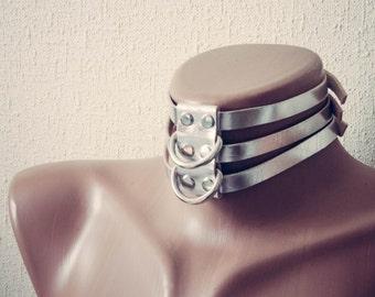 Leather Choker BDSM Collar Bondage Fetish slave sub or sissy collar Slave Day Collar