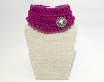 Knit dog cowl scarf 'Legally CHIC'