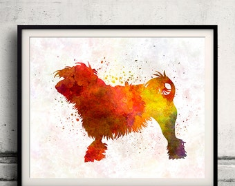 Little Lion Dog in watercolor 8x10 in. to 12x16 in. Fine Art Print  Poster Decor Home Watercolor Illustration - SKU 1259