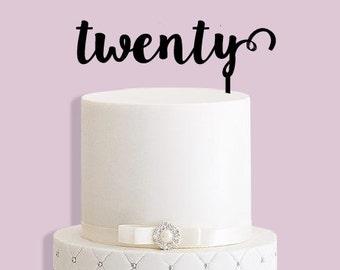 Twenty Cake Topper