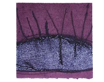 Purple Mauve Original Art Print - Limited Edition Modern Abstract Artwork by an Australian Artist