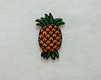 Pineapple Iron on Patch(S) -Pineapple Applique Embroidered Iron on Patch (1.8x3.5 cm)