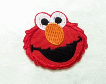 Elmo Sesame Iron on Patch(L2) - Elmo Sesame Character Applique Embroidered Iron on Patch#2 - Size 7.2x6.5 cm