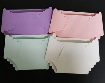 50 ct DIY Blank Diaper Invitations