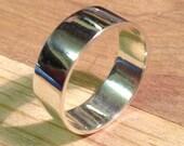 Scottish Silver and Ecosilver Flat Profile Wedding Ring