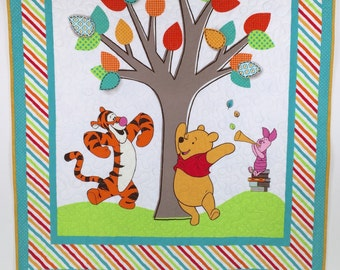 Winnie the Pooh Baby Quilt, Winnie the Pooh crib bedding, Winnie the Pooh crib Quilt, Winnie the Pooh, nursery theme, Baby gift.