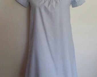 Oxford dress, XXS, XS, preppy dress, blue dress, summer dress, cotton dress, light blue dress, shirtdress