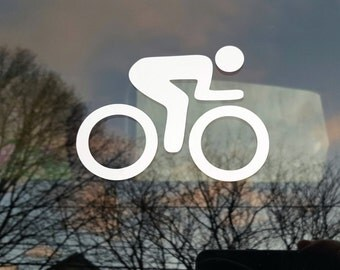 Cycling decal - male - car, laptop - free shipping