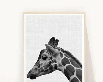 Giraffe Wall Art, Giraffe Print,  Animal Nursery Prints, Instant Download, Modern Nursery Prints, Printable Art,  Wall Decor,  Wall Art