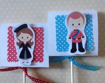 Royal Family, Britain, London, England, UK Party Lollipop Favors - Set of 10
