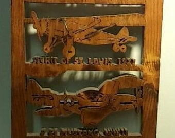 Custom Made Wooden Airplane Wall Decor (One of a Kind)