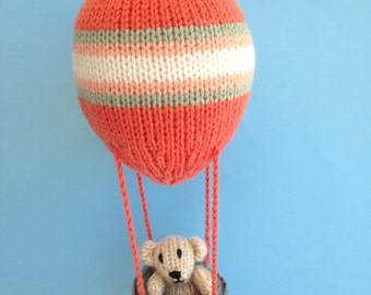 Knitted Nursery Hot Air Balloon Mobile.