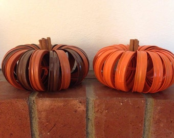 Mason Jar Lid Pumpkin, fall, autumn, pumpkin,,Halloween,Thanksgiving