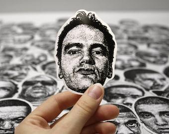Scribbled Quentin Tarantino - Vinyl Sticker