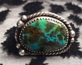 Sale! Size 7 Turquoise, Sterling Silver Ring