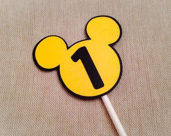 Mickey Cupcake Toppers