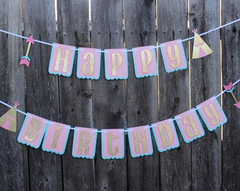 Tribal Birthday Party, Wild One Birthday Banner, Dream Catcher Birthday Banner, Teepee Banner, Tribal Shower, Tribal Decor, Boho Banner,