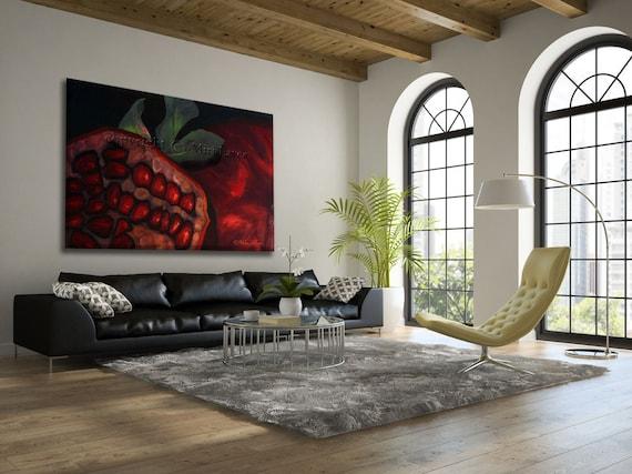 Extra grote Wall Art olieverfschilderij Fruit kunst grote